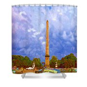The Monument's Parking Lot Digital Art By Cathy Anderson Shower Curtain