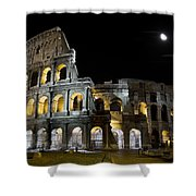 The Moon Above The Colosseum No1 Shower Curtain