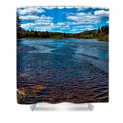 The Moose River At The Green Bridge Shower Curtain