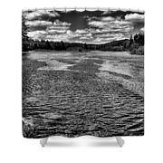 The Moose River At The Green Bridge II Shower Curtain