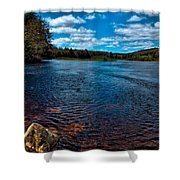 The Moose River In The Spring Shower Curtain