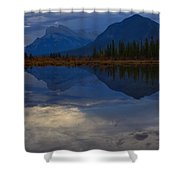 The Morning Blues Shower Curtain