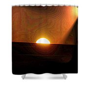 The Morning Light Show Shower Curtain