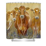 The Morning Moo Shower Curtain