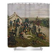 The Morning Of The Battle Of Waterloo Shower Curtain