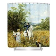 The Morning Ride Shower Curtain