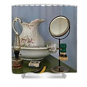 The Morning Shave Shower Curtain