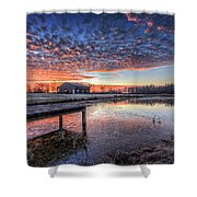 The Morning Sky Shower Curtain