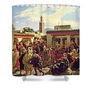The Moroccan Storyteller Shower Curtain