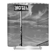 The Motel Bw Palm Springs Shower Curtain