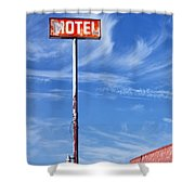 The Motel Palm Springs Desert Hot Springs Shower Curtain
