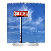 Motel California Palm Springs Shower Curtain