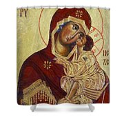 The Mother Of God -the Don Icon Shower Curtain