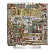The Mountain Village Shower Curtain