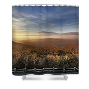 The Mountains Of Brasstown Bald Shower Curtain