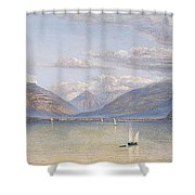 The Mountains Of St Gingolph Shower Curtain