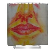 The Mouth Shower Curtain