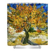 The Mulberry Tree After Van Gogh Shower Curtain