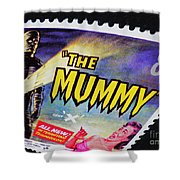 The Mummy Postage Stamp Print Shower Curtain