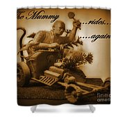 The Mummy Rides In Halifax Shower Curtain