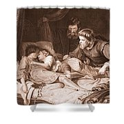 The Murder Of The Princes In The Tower Shower Curtain