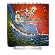 The Music Must Go On Shower Curtain
