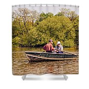 The Music Never Ends - Central Park Pond - Nyc Shower Curtain