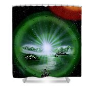The Music Of The Universe Shower Curtain