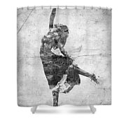 The Music Rushing Through Me Black And White Shower Curtain