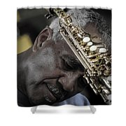 The Musicians Humble Bow To Applause  Shower Curtain