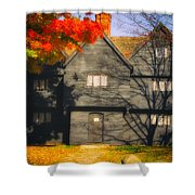 The Mysterious Witch House Of Salem Shower Curtain