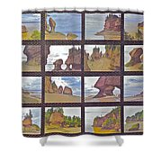 The Mystery Of Tides Photo Assemblage Shower Curtain