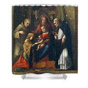 The Mystic Marriage Of St Catherine Shower Curtain