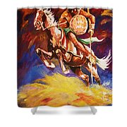 The Mystic Warrior Shower Curtain