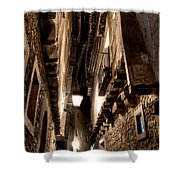Narrow Street In Albarracin Shower Curtain