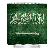 The National Flag Of  Kingdom Of Saudi Arabia  Vintage Version Shower Curtain