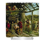 The Nativity Shower Curtain by William Bell Scott