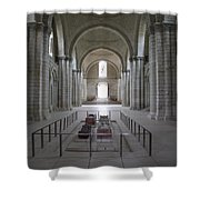 The Nave With Tombs Fontevraud Abbey Shower Curtain