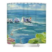 The Needles Isle Of Wight Shower Curtain