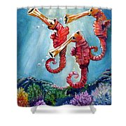 The Neptunes -- Trumpeteers Shower Curtain
