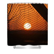 The Netted Sun Shower Curtain