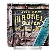 The New Birdsell Clover Huller Shower Curtain