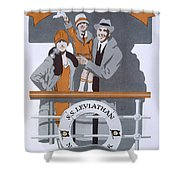 The New Holiday, Vintage Travel Poster Shower Curtain