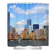 The New New York Skyline Shower Curtain