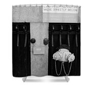 The New Normal In Black And White Shower Curtain