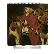 The New Whip Shower Curtain by Charles Burton Barber