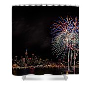 The New York City Skyline Sparkles Shower Curtain by Susan Candelario