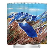 The New Zealand Alps Shower Curtain