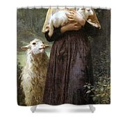 The Newborn Lamb Shower Curtain