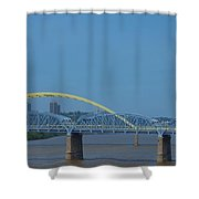 The Newport Southbank Bridge Shower Curtain